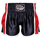 Шорти для тайського боксу (Muay Thai) FIREPOWER ST-16 Black/Red, фото 3