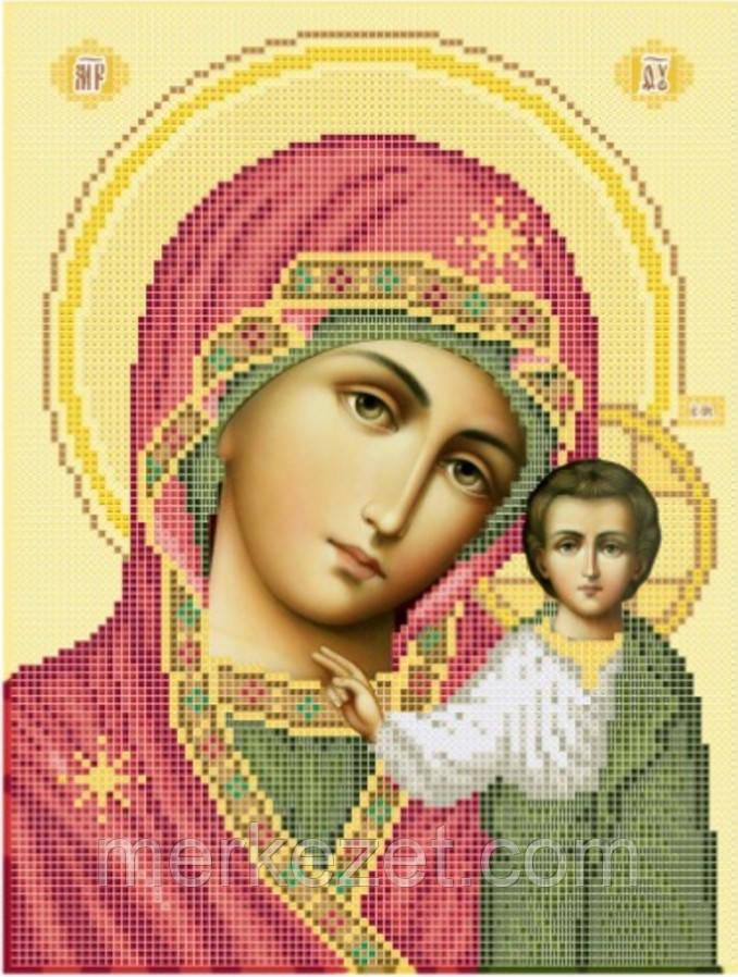 Казанская Божья матерь. Икона для вышивки бисером.