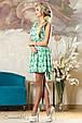 Красивое  женское летнее  платье 2155 зеленый, фото 3