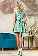 Красивое  женское летнее  платье 2155 зеленый, фото 4