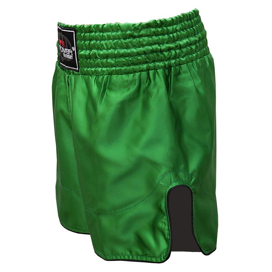 Шорты для тайского бокса (Muay Thai) FIREPOWER ST-17 Green