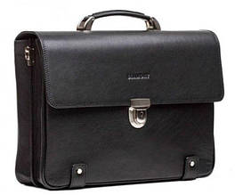Черный деловой портфель из кожи BLAMONT Bn044A
