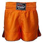 Шорти для тайського боксу (Muay Thai) FIREPOWER ST-17 Orange, фото 2