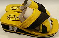 Шлепанцы детские на пене р32 LUCKYS желто-черные