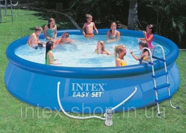 Надувной бассейн Intex 54908, 457 см х 107 см.