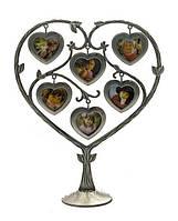 Рамка для фотографий Сердце на 6 фото, подарок для молодоженов