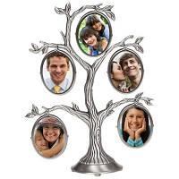 Семейная фоторамка в виде дерева на 5 фото, подарок для бабушки