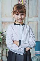 Рубашка школьная белая с бантиком