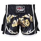 Шорти для тайського боксу (Muay Thai) FIREPOWER ST-18 Black, фото 2