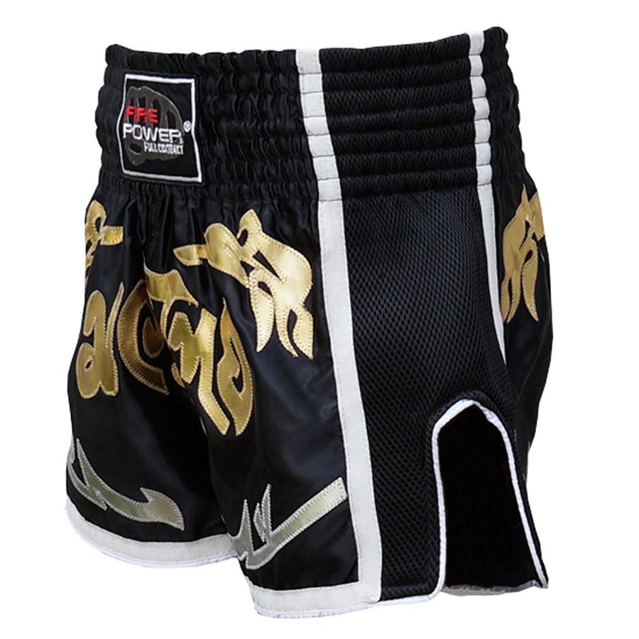 Шорти для тайського боксу (Muay Thai) FIREPOWER ST-18 Black