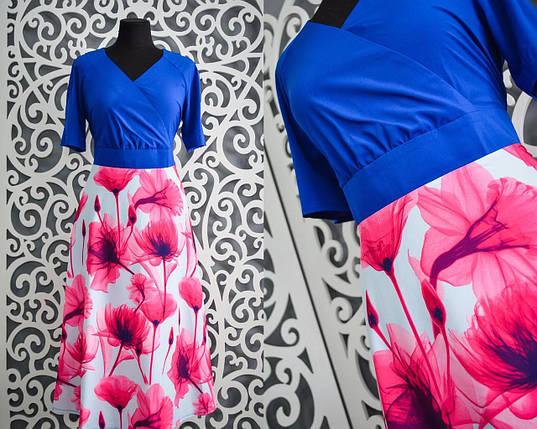 Красивые летние женские платья 52, 54, 56, 58 размеры батал, фото 2