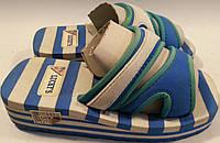 Шлепанцы детские на пене р31-32 LUCKYS сине-белые