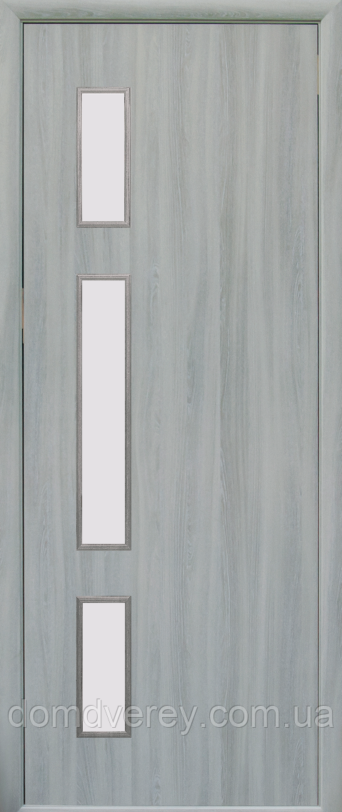 Двері міжкімнатні Новий Стиль, КВАДРА, модель Герда, зі склом сатин