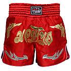 Шорты для тайского бокса (Muay Thai) FIREPOWER ST-20 Red, фото 2