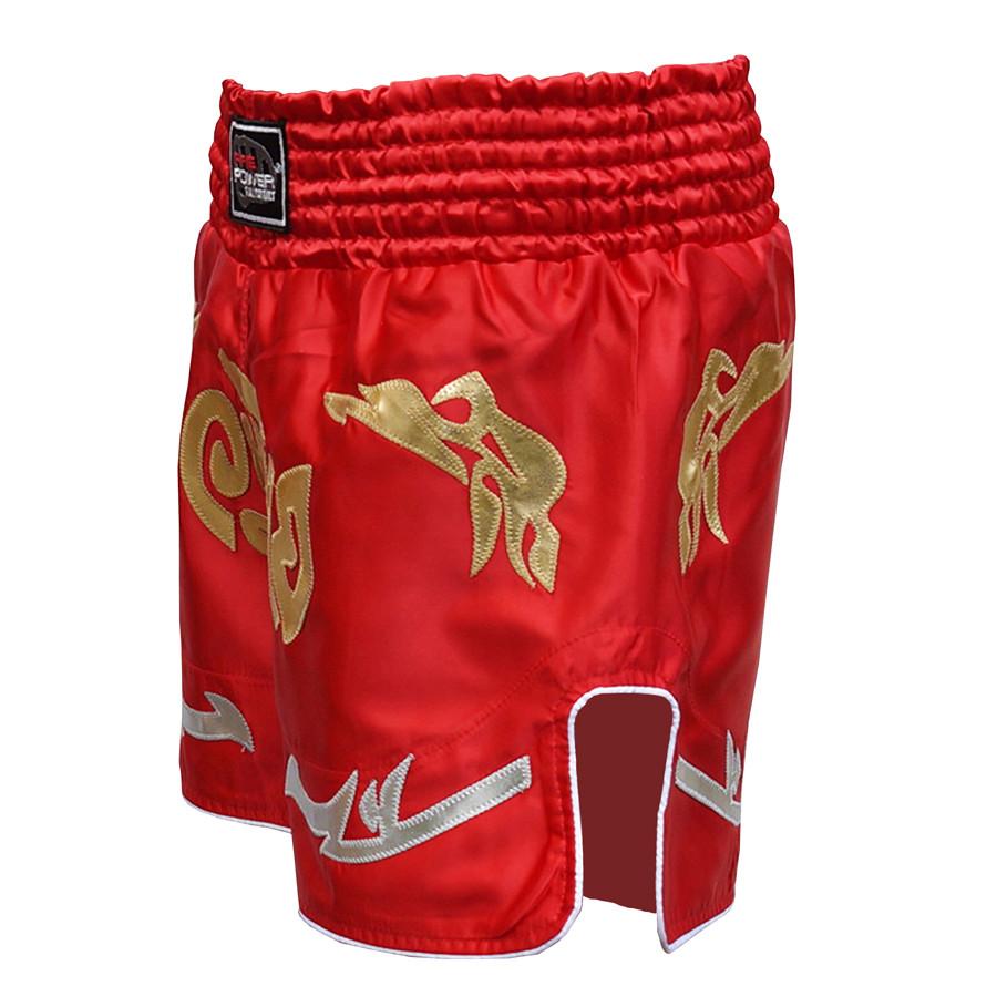 Шорты для тайского бокса (Muay Thai) FIREPOWER ST-20 Red