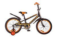 """Детский велосипед 18"""" FORMULA SPORT 2017 (Черно-оранжевый)"""