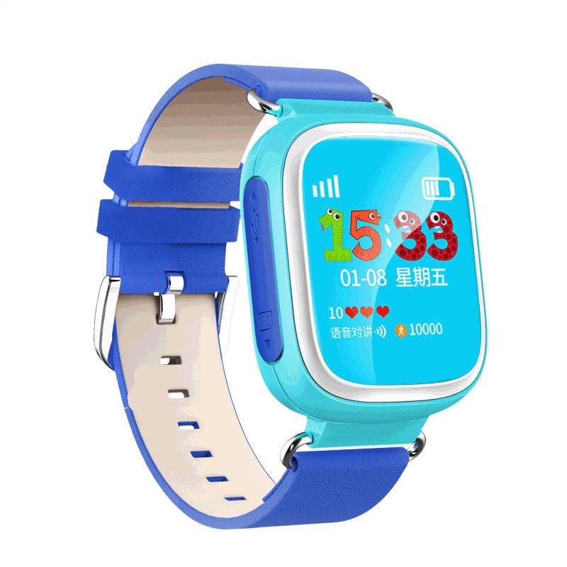 Детские Розовые  часы с GPS трекером Smart Watch Q80 Синие