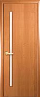 Двері міжкімнатні Новий Стиль, КВАДРА, модель Глорія, екошпон, зі склом сатин