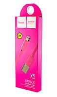 Кабель Hoco X5 Bamboo Micro USB cable (1.0 m) розовый