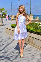 Нарядное атласное платье  004 (ВИВ)