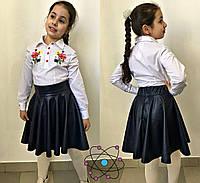 Детская юбка эко кожа