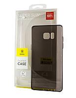 Силиконовый чехол бампер Baseus Air Case для Samsung Galaxy Note 7 серый