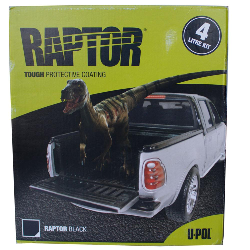 Защитное покрытие Raptor U-POL  4л - комлект, Цветной