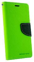 Чехол книжка для LG K10 K410/K430DS Goospery зеленый/синий