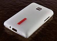 Накладка силиконовая для LG E435 Optimus L3 II Dual Capdase матовая/прозрачная
