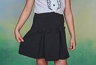 Юбка для девочки в школу с бантиками