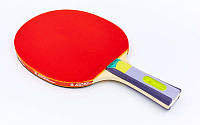 Ракетка для настольного тенниса 1 штука GD KARATE P40+ 4* MT-5691 (древесина, резина) Z, фото 1