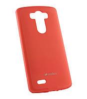 Силиконовый чехол для LG D855/D850/D856 Dual G3 Melkco Poly Jacket розовый+пленка
