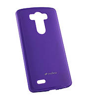 Силиконовый чехол для LG D855/D850/D856 Dual G3 Melkco Poly Jacket фиолет+пленка
