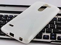 Накладка силиконовая для LG G3 Stylus D690 Dual Line X-Series белая