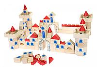 Goki Конструктор деревянный Замок 145 58984, деревянный замок из кубиков