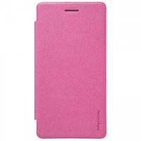 Кожаный чехол (книжка) Nillkin Spakle Series для LG H650E Zero / Class розовый