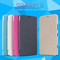 Кожаный чехол (книжка) Nillkin Spakle Series для Microsoft Lumia 950 черный