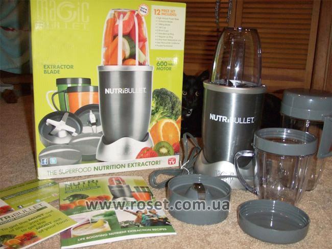 Кухонный комбайн-измельчитель 600 Вт - пищевой экстрактор Нутрибуллет