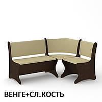 Угловой мягкий диван Италия для кухни, с нишами для хранения