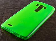 Силиконовый чехол для LG D855/D850/D856 Dual G3 ультрантонкий 0.3mm зеленый