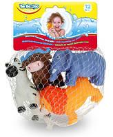 Животные-пищалки для ванной Зоопарк (4 шт.), BeBeLino (58004)