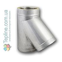 Трійник-сендвіч 87° для димоходу d 120 мм; 0,5 мм; AISI 304; нержавійка/оцинкування - «Версія-Люкс», фото 2