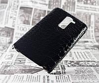 Накладка LG D802 Optimus G2 черный (крокодил)