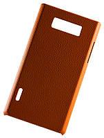 Накладка для LG L7 Optimus (P700, P705) под кожу оранжевый + пленка