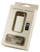 Зарядное устройство с кабелем для iPhone 4 (2в1) 1000 mAh