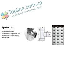 Трійник-сендвіч 87° для димоходу d 150 мм; 0,5 мм; AISI 304; нержавійка/оцинкування - «Версія-Люкс», фото 3