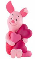 Фигурка Пятачок с сердечками, Disney Winnie the Pooh, Bullyland (12326)