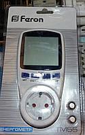 Feron ТМ 55 (Оригинал) cчётчик электроэнергии ваттметр энергометр мобильный.