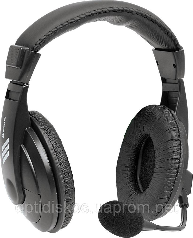 Компьютерная гарнитура Defender Gryphon, HN-750 черный, кабель 2 м
