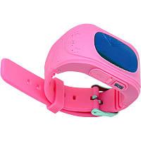 Детские часы-телефон с GPS трекером GW300 (Q50) розовый